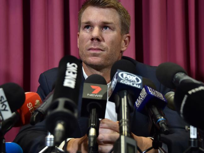 David Warner is starting back at square one.
