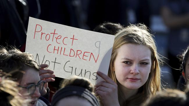 Mass student walkouts are planned. Picture: Craig F. Walker/The Boston Globe via AP.