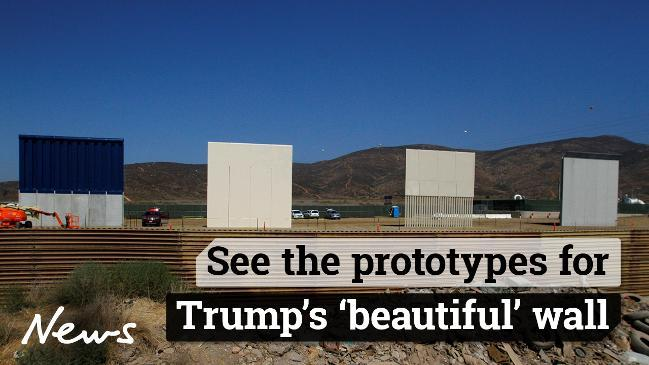 Image result for donald trump prototype wall