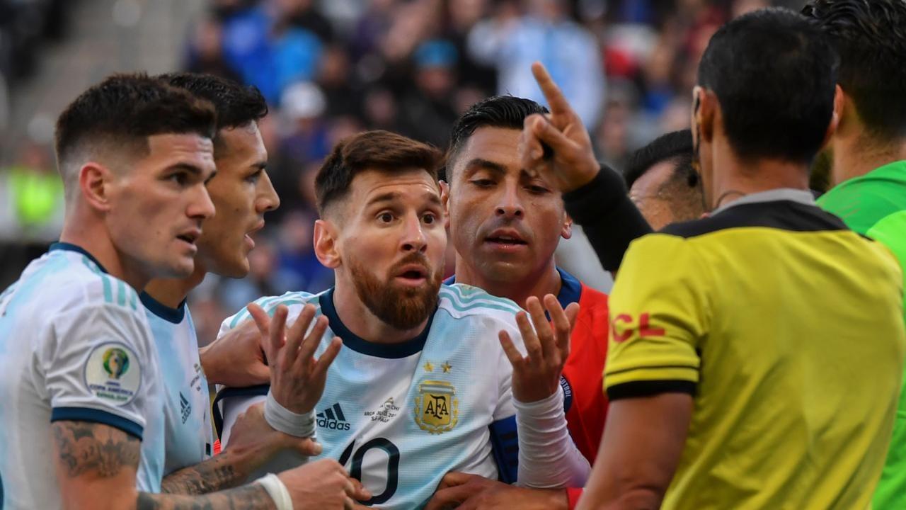 Lionel Messi Banned Argentina Barcelona Copa America Chile Red Card Corrupt Latest News Fox Sports