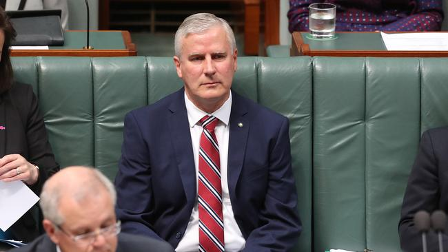 Deputy PM Michael McCormack during Question Time in the House of Representatives Chamber, Parliament House in Canberra. Picture Kym Smith