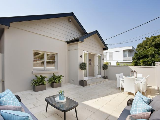 The living areas at 12 Murriverie Rd, North Bondi, opened out to a private courtyard