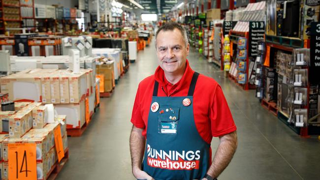 Mr Schneider has positioned Bunnings to fight off online competitors. Picture: Peter Mathew