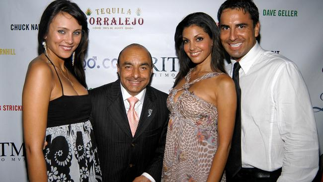Nancy Salmashuck, Giovani 'The Margarita King', Sonia Vera and Micky Flores attend Miss Universe Post Pageant VIP Party at The Standard Downtown on July 23, 2006. Picture: Patrick McMullan