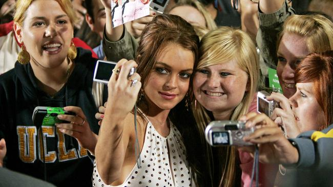 Lindsay Lohan at the premiere of Just My Luck in 2006. Picture: AP PicKevork/Djansezian