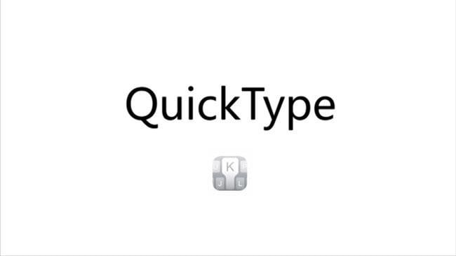 Quick Type on the iPhone 6