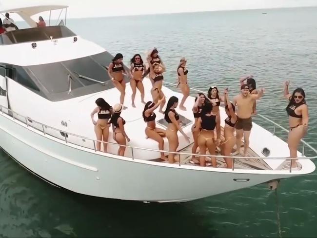 Fun on the boat.