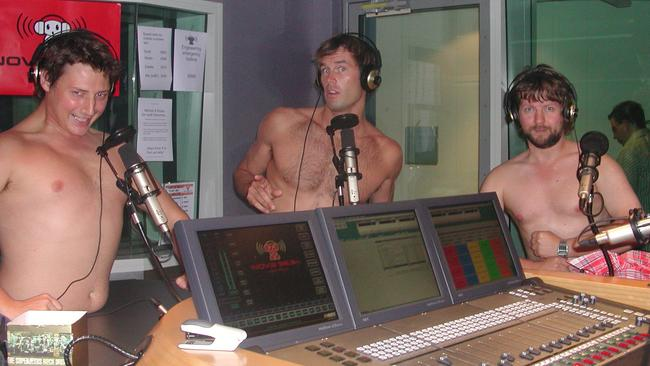 Tom Williams with Merrick and Rosso in 2003.
