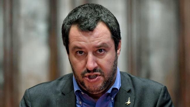 Leader of the League, Matteo Salvini. Picture: AP