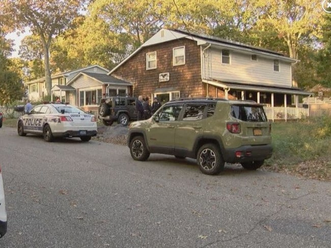 The Long Island home where Mike Carroll found the skeleton of his father in the basement. Picture: ABC News 7