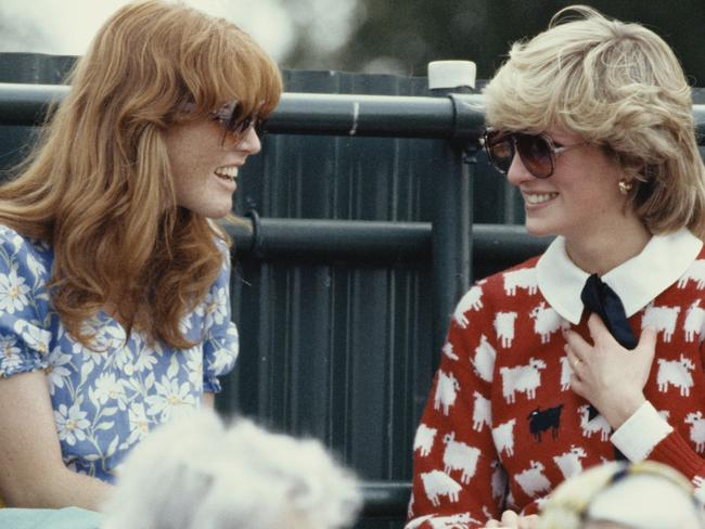 Diana, Princess of Wales with Sarah Ferguson at the Guard's Polo Club, Windsor, June 1983. Picture: Getty