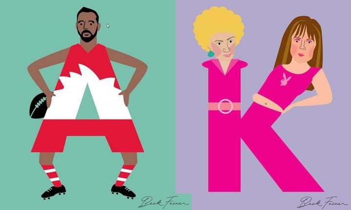 Sydney mum has created an Aussie Legends Alphabet and it's amazing