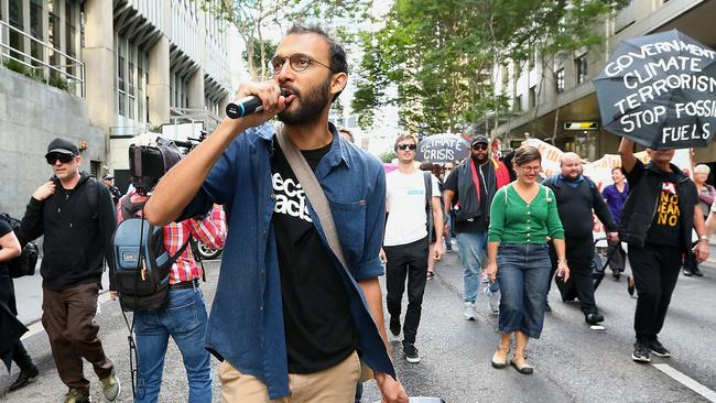 The protest was organised by Brisbane city councillor Jonathan Sri. Picture: AAP/Jono Searle