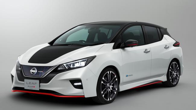Nissan's Leaf Nismo highlighted EV performance. Pic: Supplied.