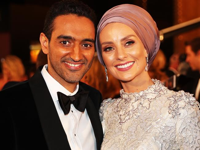 'Unhinged': Television presenter Waleed Aly and wife Susan Carland at the 2017 Logie Award. Picture: AAP