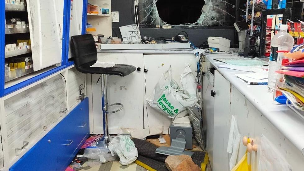 Police say the man broke into the service station by smashing a window. Picture: Supplied