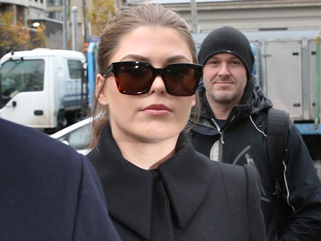Belle Gibson returns to the Federal Court in Melbourne today over a failure to pay a $410,000 penalty. Picture: David Crosling/AAP