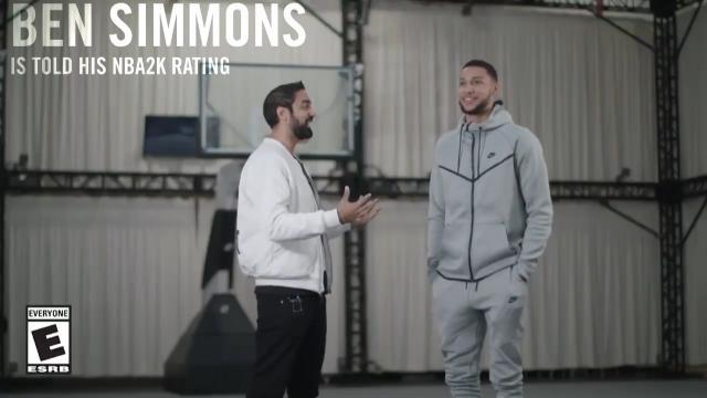 Ben Simmons reacts to 2K rating