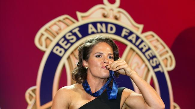 AFLW Best and Fairest winner Emma Kearney.