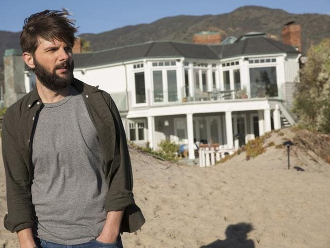 Private beachfront access: Ed (Adam Scott) outside he and Madeleine's house. Picture: Hilary Bronwyn Gayle/HBO