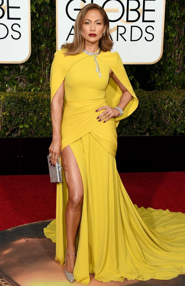Heating up ... Jennifer Lopez attends the 73rd Annual Golden Globe Awards. Picture: Getty
