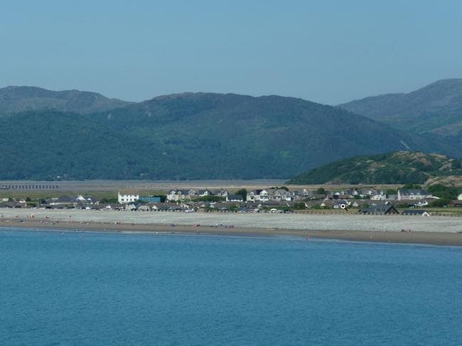 The small seaside town is surrounded by mountains. Picture: Matt Buck