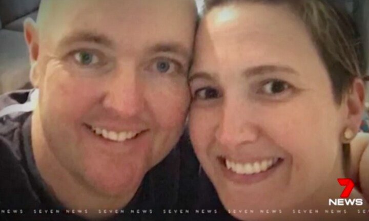 Briony, while mourning her husband, has been devastated by the scams. Image: 7 News Source: 7 News