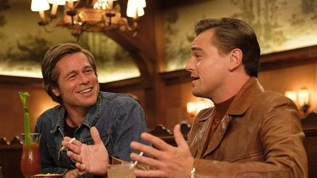 Pitt and Leonardo DiCaprio in Once Upon a Time … in Hollywood.