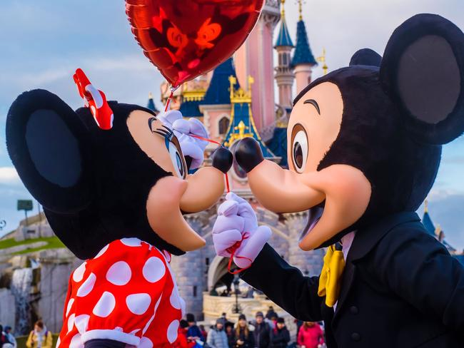 One guest copped a serious punch from Mickey Mouse. Picture: Disneyland Paris