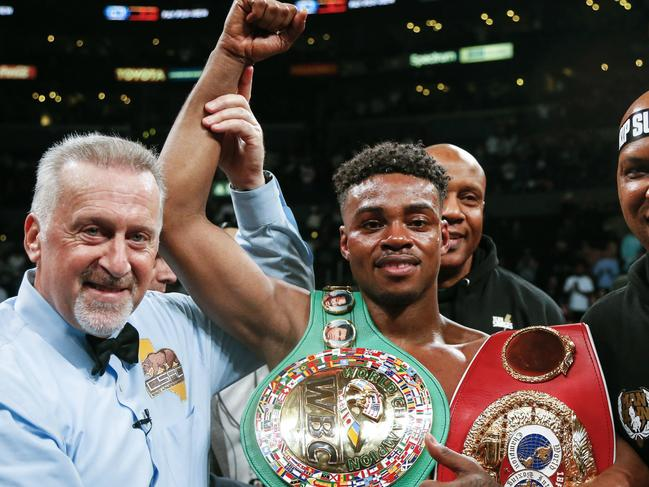 Errol Spence Jr was world welterweight champ from 2017-2019. Picture: AP