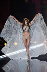 US model Taylor Hill presents a creation during the 2017 Victoria's Secret Fashion Show in Shanghai on November 20, 2017. Picture: AFP PHOTO / FRED DUFOUR