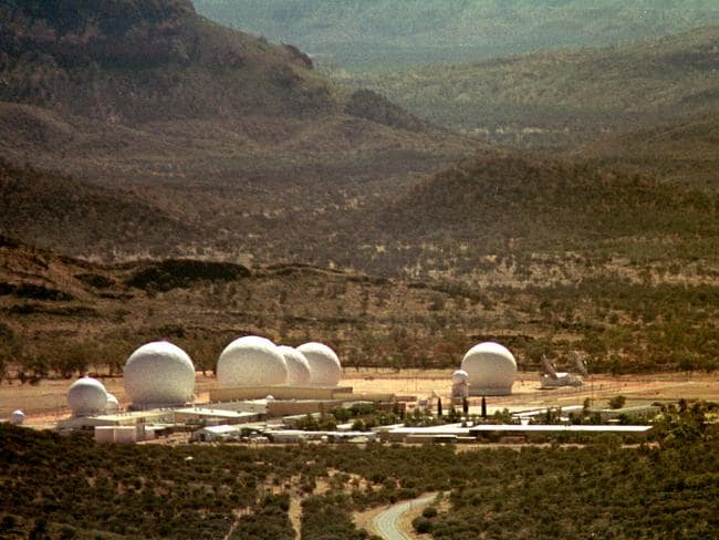 This is what most people think of when we hear the words Pine Gap.