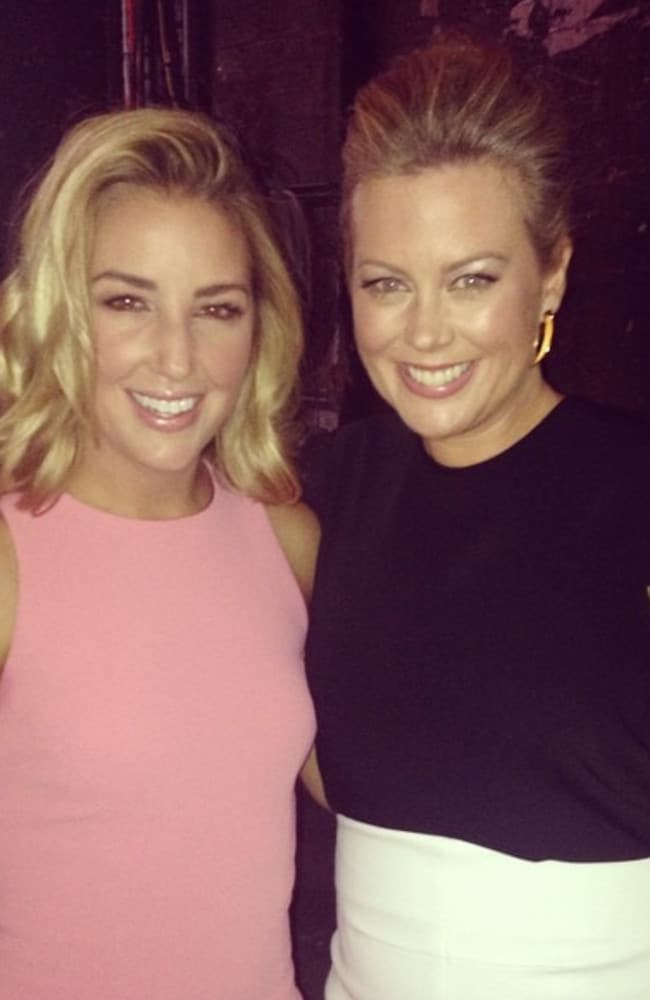 Sam Armytage (right) and fashion stylist Jules Sebastian ahead of tonight's TV premiere. Picture: Instagram