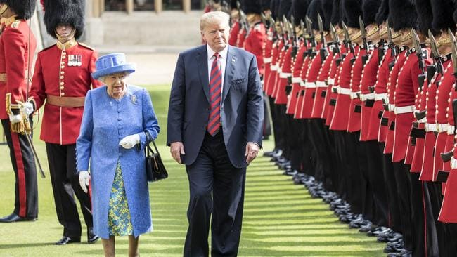 Trump may not have observed all the protocols of meeting the Queen, but her own relatives have to. Picture: Getty