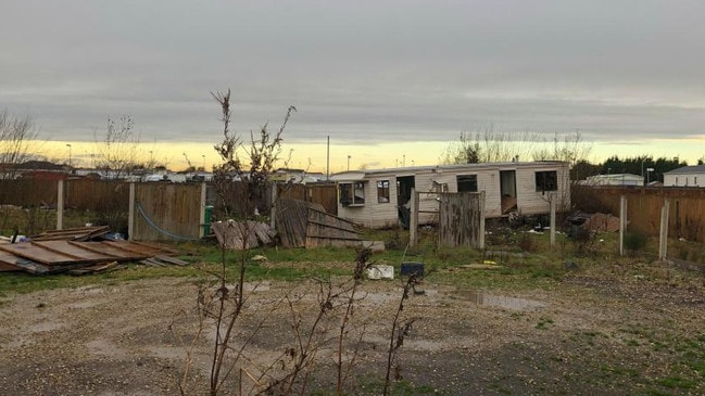Pictured is the traveller site where locals say they are living in fear due to anti-social behaviour. Picture: John Siddle