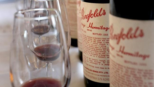 Mr O'Farrell came unstuck when he forgot about a gift of a $3000 bottle of Penfolds Grange Hermitage Picture: David Geraghty