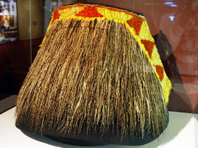 A feather cape, or ahu'ula, presented to James Cook by the high chief, Kalani'opu'u, in 1778. Picture: Marc McCormack
