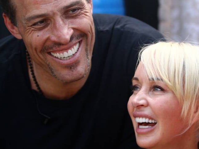 Tony Robbins with wife Sage Robbins. Picture: Supplied