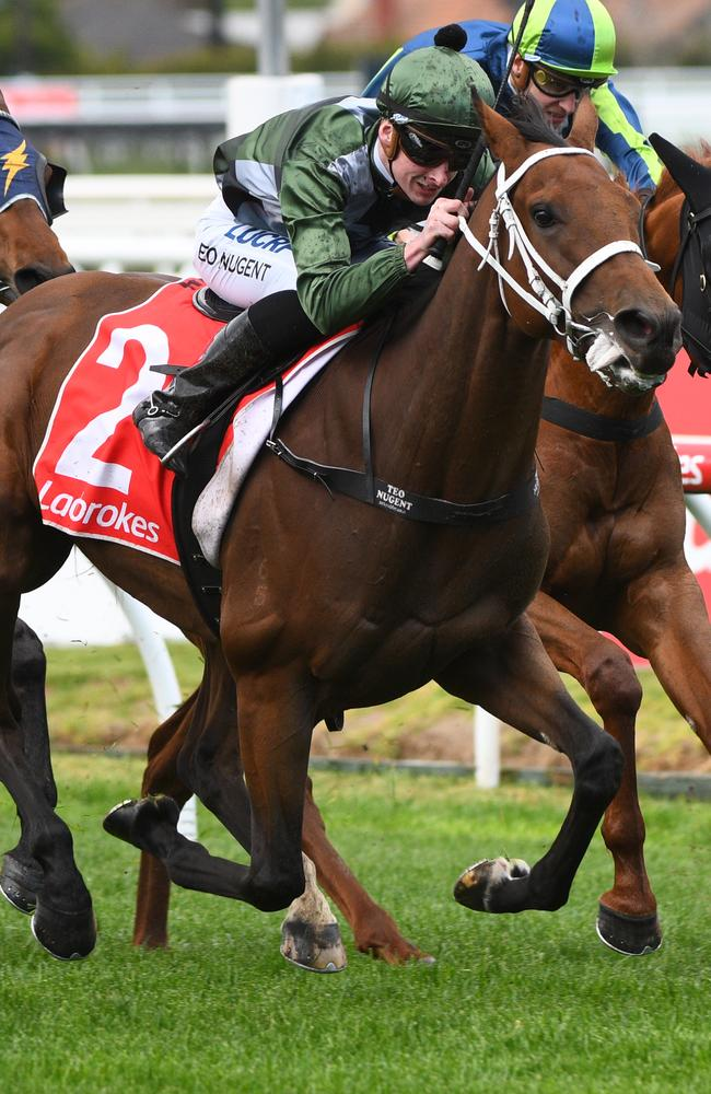 Teodore Nugent and Shared Ambition surge to victory in opening race.