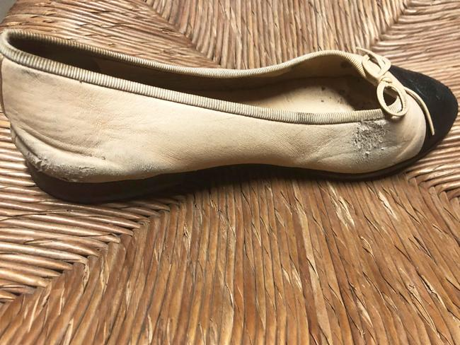 f30ef2eea9f6 These Chanel flats started peeling just as they got comfortable.
