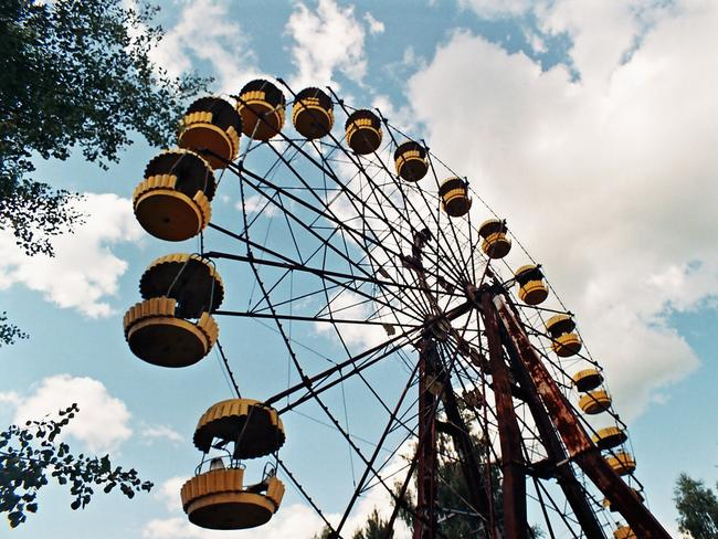 The rusting ferris wheel. Picture: Andrzej Karon.