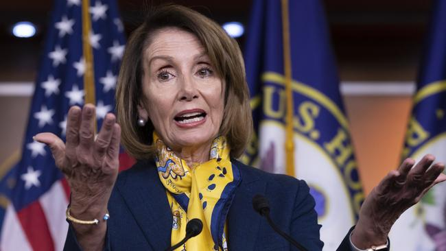 Speaker of the House Nancy Pelosi is standing firm against Donald Trump's wall proposal.