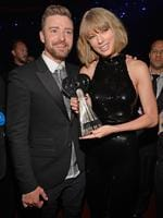 Justin Timberlake and Taylor Swift attend the iHeartRadio Music Awards at The Forum on April 3, 2016 in Inglewood, California. Picture: Getty