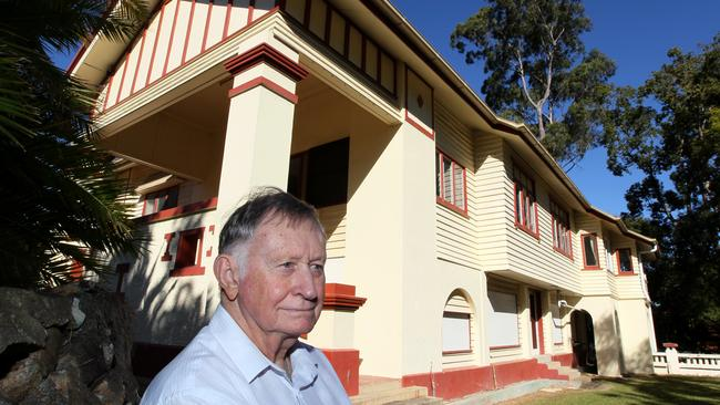 Walter Taylor's grandson, Noel Davis came along to have a closer look at the home he spent a lot of his youth in. Picture AAP/David Clark