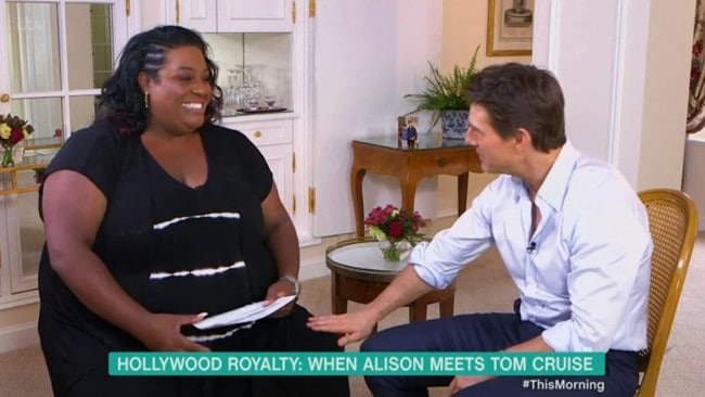 Alison Hammond sits down with Tom Cruise. Picture: ITV