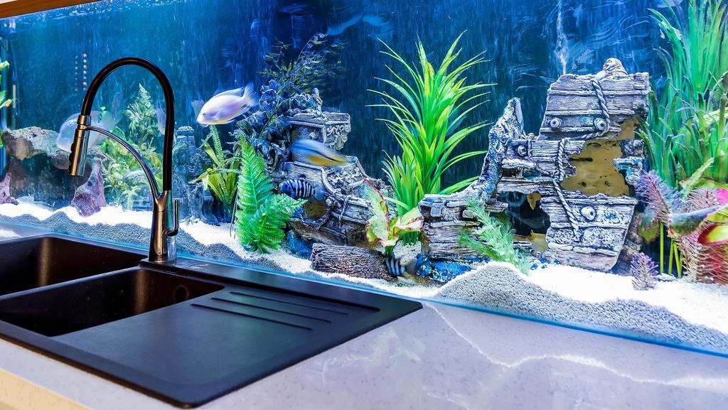 A Kitchen Splash Back That Comes With Underwater Views And Tropical Fish