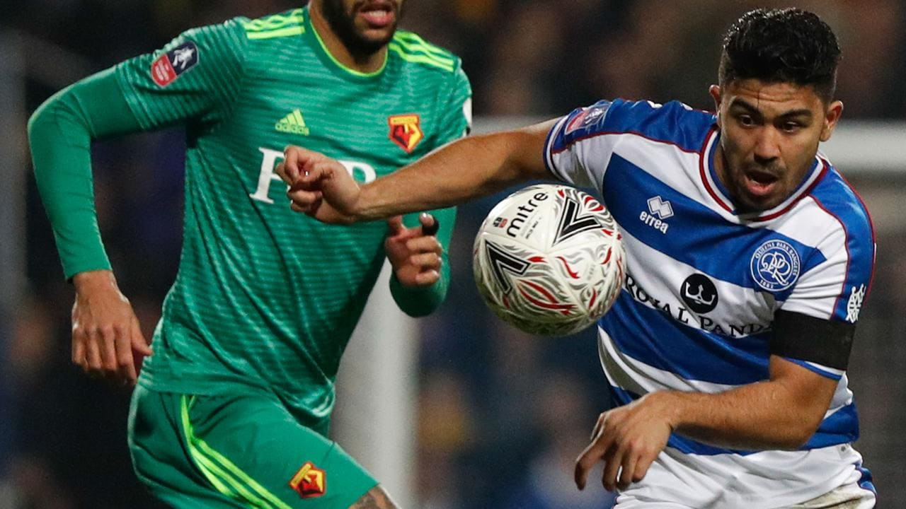 Massimo Luongo (R) in action for QPR.
