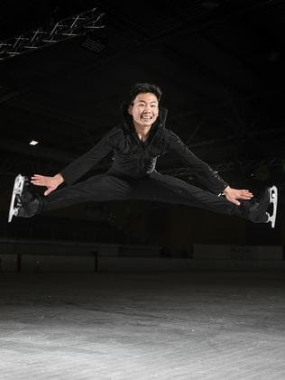 Andy Yao's figure skating coach, Richard Laidlaw says his protege has talent way beyond his 14 years. Picture: SARAH REED