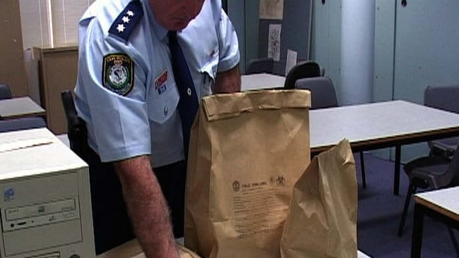 NSW police raids from the Child Protection and Sex Crime Squad command during Operation Auxin following arrests for internet child pornography.