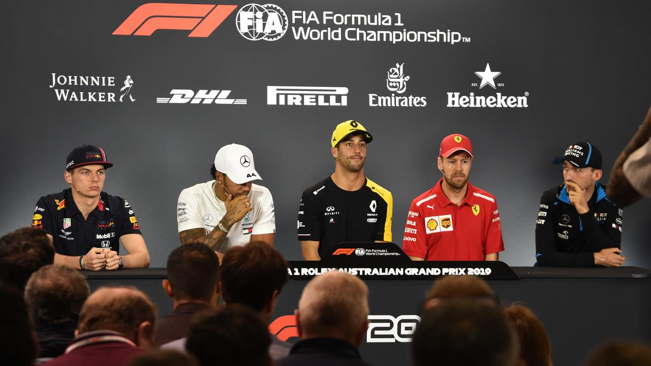 Some of the F1 drivers attended the first press conference of the season in Melbourne.
